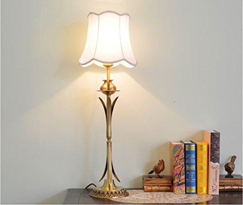 JJJJD Rétro Lampe de LED, commutateur créatif de Bouton de Lampe de cuivre d'or 26cm * 80cm (Couleur : Blanc)