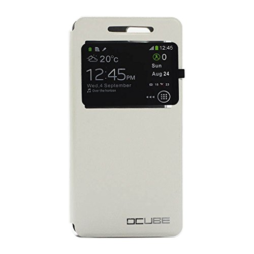 Guran® Funda de Cuero Para Leagoo Elite 1 Smartphone con Función de Soporte Flip Case Cover--blanco