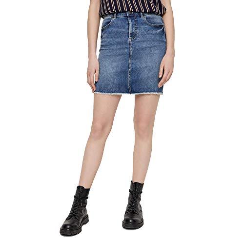 PIECES Female Minirock Jeans Slight Blue Denim