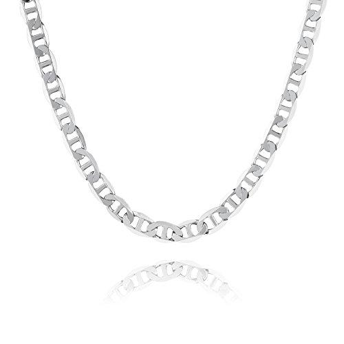 STERLL Cadena para hombre de plata 925, 50 cm de longitud, con caja de joyas, ideal como regalo de hombre