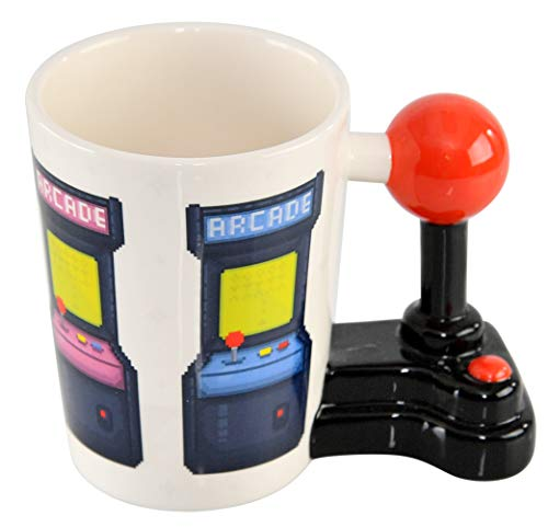 HOME-X Novelty Coffee Mug With Joystick Handle for Office or Home Kitchen