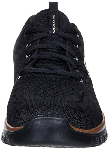 Skechers Graceful Get Connected, Zapatillas Mujer, Black, 18.5 EU