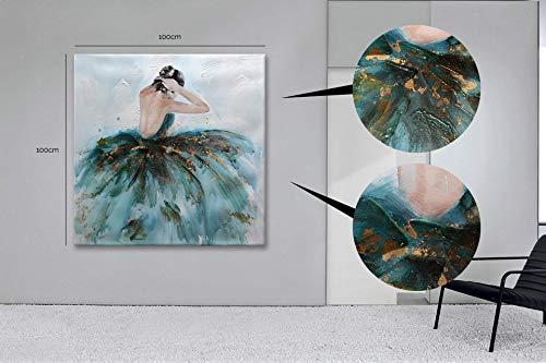 Casarreda Store Dipinto Donna in Rilievo Realizzato a Mano 100x100 - BUBOLA E NAIBO