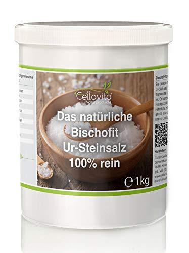 Cellavita - Natürliches Bischofit Ur-Steinsalz 100% reines Salz | ohne Rieselhilfen ohne Trennmittel ohne Antibackmittel keine Zusätze | 1kg
