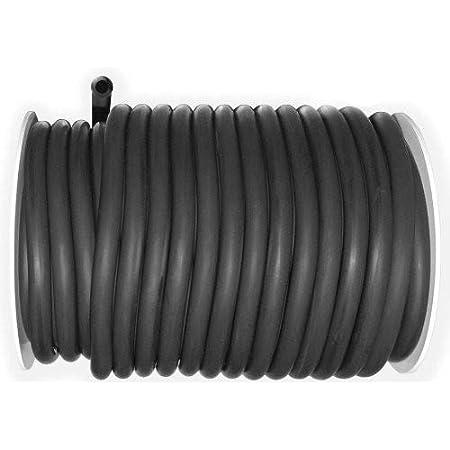 "Black Rubber Single Inner Braid x 10 FT. Semco Tubing 1//8/"" ID  x .35/"" OD"