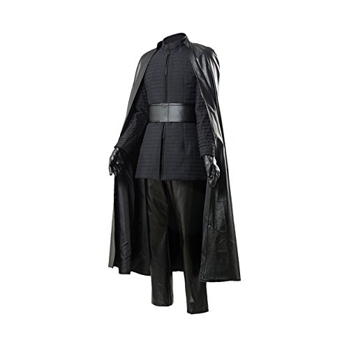 Linen Family Disfraz de Kylo REN para Adultos, de Lino, de Piel, para Halloween, Navidad, Disfraz, cinturón de Guantes