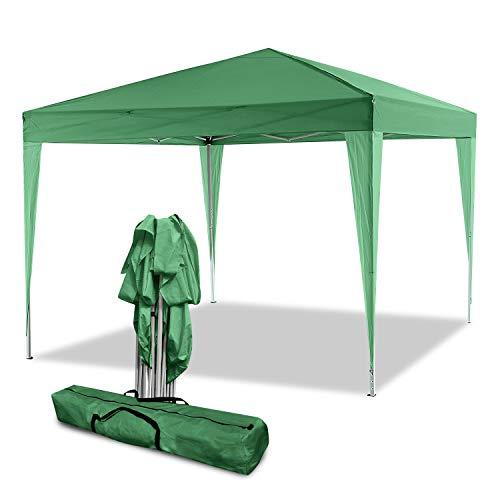 Bunao Carpa con Paredes 3x6 m   Plegable, Impermeable, con Protección Solar, Ideal para Fiestas en el Jardín   Gazebo, Cenador, Pabellón, Tienda Fiestas   Persona 10-12 (Verde)