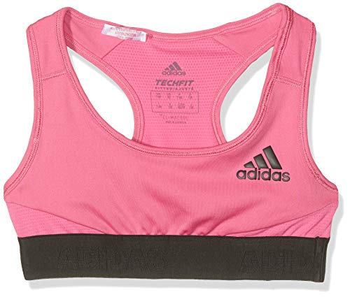 adidas Mädchen Alphaskin Sport-BH, Semi Solar Pink/Black, 164