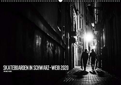 Skateboarden in Schwarz-Weiß (Wandkalender 2020 DIN A2 quer): Schwarz-weiße Skateboardfotografie (Monatskalender, 14 Seiten )