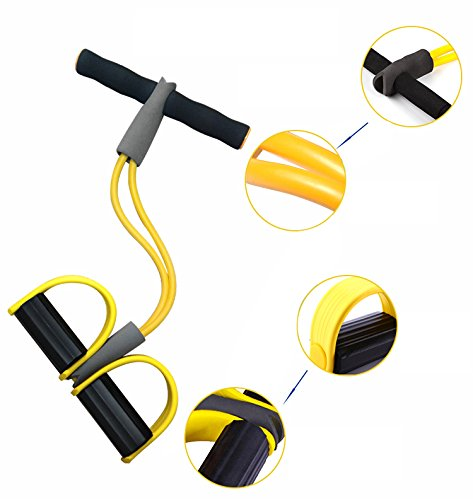 zinnor Elastic Sit Up Pull Rope Spring Tension Foot Pedal Abdomen Leg Exerciser Tummy Trimmer Equipment Bodybuilding Home Gym Arm Waist Sport Fitness Stretching Slimming Training