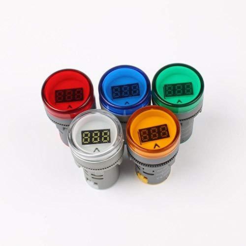 Condensadores Pantalla Verde 22MM AD16 AD16-22DSV Tipo AC 60-500V Mini Metro del Voltaje del LED Digital AC Voltímetro luz indicadora/piloto de la lámpara 110V 220V (3pcs)