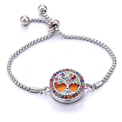 XUFAN Ladies Bracelets, Jewelry, Adjustable Chains, Crystals, Tree Of Life, Ladies Hand Bands Decorative Bracelets bracelet (Color : 4)