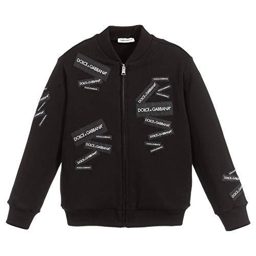 Dolce & Gabbana Felpa con Cerniera Kids 10 Years Black