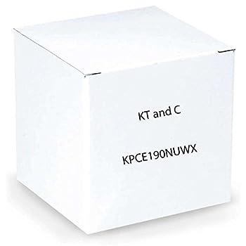KT&C KPC-E190NUWX 700TVL Mini Color Bullet Camera 3.6mm Board Lens Mounting Bracket IP67 Black
