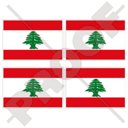 2 Lebanon Flag Decals Stickers