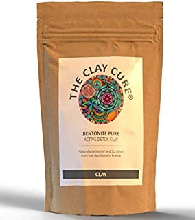 Bentonite Pure Skin Detox Clay – 500g – 100% Natural Mineral Rich High - Absorption Face Clay Mask – Removes Toxins, Impurities – Best Body Detox For After Christmas – Aztec secret Indian Healing Clay