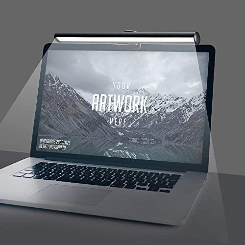 Natseekgo Laptop Monitor LED Lampe mit Touch Control,USB Lampe für Notebook Bildschirme, Platzsparende leichte Schreibtischlampe für Büro Zuhause, einstellbare 10 Helligkeits- und 3 Farbstufen