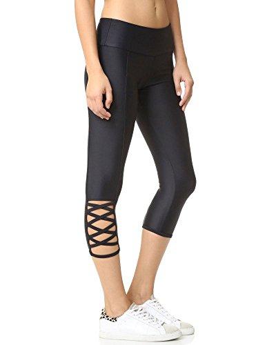 Onzie Hot Yoga Weave Capri 289 Black (Black, X Small)
