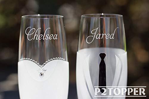 Flûte à champagne personnalisée, flûte à griller pour mariage, flûte à champagne, verres de mariage, verres Mr et Mrs