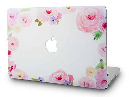 KEC Laptop Case for Old MacBook Pro 13' Retina (-2015) Plastic Hard Shell Cover A1502/A1425 (Flower 5)