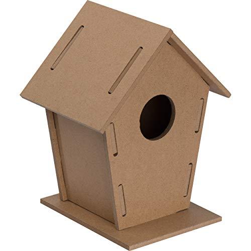 Vogelhaus zum aufhängen als Holzbausatz für Kinder, Vogelhäuschen zum bemalen für Vögel, wetterfest, bausatz, Nistkasten, Nistkästen, Brutkasten, Rotkehlchen, Esschert, Meisen, Feeder und Spatzen…