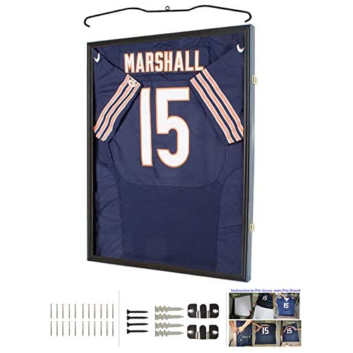 How To Frame A Jersey >> Amazon Com Jersey Display Frame Case Large Frames Shadow Box