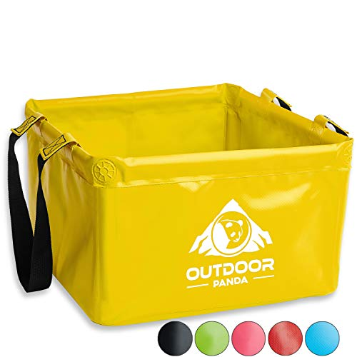 Outdoor folding bowl, 15 litres, foldable camping washing bowl made of durable tarpaulin fabric, space-saving and lightweight, alternative to plastic, washing up bowl and dishwasher