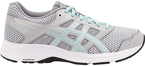 ASICS Women's Gel-Contend 5 Running Shoes, 9W, MID Grey/ICY Morning