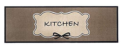 Küchenläufer / Küchenmatte / Dekoläufer für Küche und Bar / Teppich Läüfer / waschbare Küchenläufer / Küchendeko Modell ,,COOK & WASH kitchen - braun