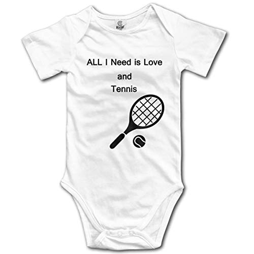 Klotr Ragazze Ragazzi Pagliaccetto Love And Tennis Newborn Bodysuits Short Sleeved Romper Jumpsuit Outfit Set