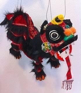 SPARIK ENJOY Black Lion Marionette Chinese Hand Marionette Puppet