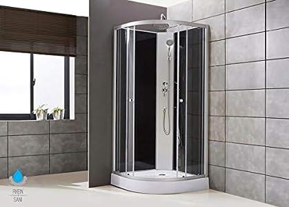 Ducha completa de 90 x 90 cm, cabina de ducha, cabina completa Wellness ducha