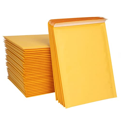 10/50 bolsas de sobres de burbujas amarillas, sobres acolchados para revistas (50 unidades, 11 x 15 cm)