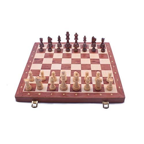ZNZN Ajedrez Juego de ajedrez de Madera Juegos interactivos de ajedrez de Viaje para niños y Adultos Aprendizaje Juguetes educativos Regalos de Lujo ajedrez para (tamaño : X-Large)