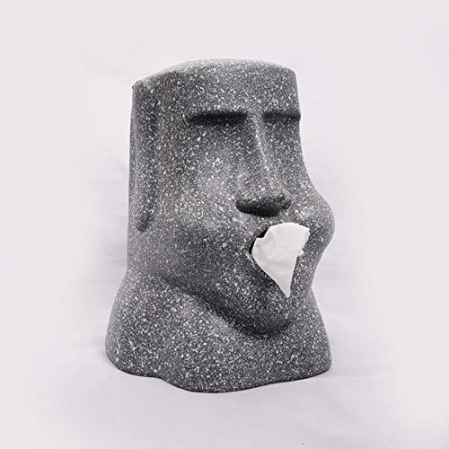 Osterinsel Stein Statue Tissue Box Statue Dekoration Papierhalter Puppe Papierhalter Toilettenpapier Lagerung Bad Aufbewahrungsbox