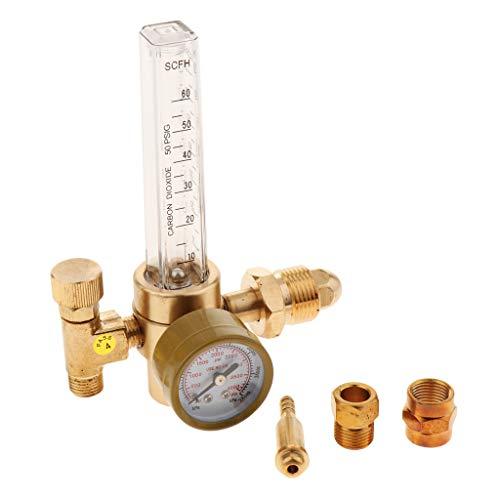 perfk Hochwertig Argon Druckminderer Druckregler Druckreduzierventil Sicherheitsventil mit Durchflussregler und Durchflussrohr Stopfbuchse