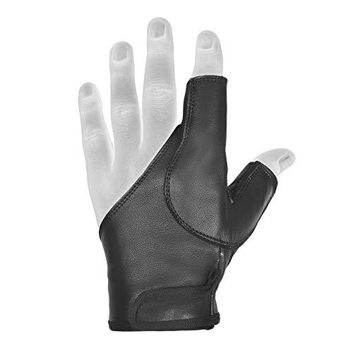 Archery Bow Gloves Left&Right Hand BLACK,Brown,BEIGE,DARK BROWN(Black...