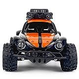 電気キッドおもちゃの車のためのミニデザートレーシング4WDオフロード車2.4GHzラジオリモートコントロールすべての地形オレンジ色のクローラーカー子供男の子の女の子のための制御が簡単