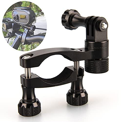 Lammcou Cámara de acción Soporte de Motocicleta, Soporte de Manillar de Bicicleta de Aluminio y Llave de Metal para Accesorios de videocámara Deportiva Osmo 9 8 7 6 5