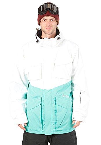 LIGHT Chinch Veste pour Homme Multicolore Blanc/Turquoise XL