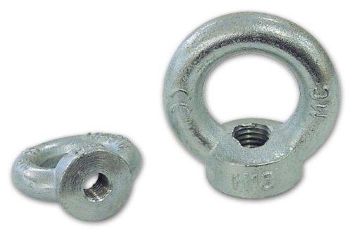 Cáncamos Femenino galvanizado Medida 16 mm Ø exterior 63 mm de diámetro interior de 35 mm