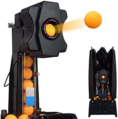 SCYMYBH Ping-Pong-Roboter-Maschine Professionelle Ping-Pong-Ballmaschine mit automatischer Tischtennis, automatischer Ping-Pong-Maschine-Wireless-Loop-Service mit Steuerkasten