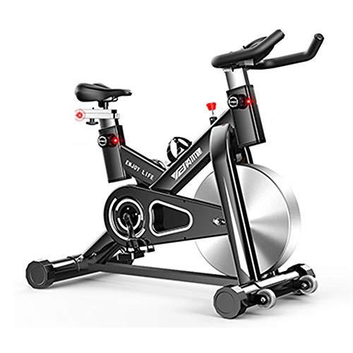 Heimtrainer Fahrrad für Zuhause,Indoor Cycle mit Intelligente App Elektromagnetisch Spinning Fahrrad Mit beweglichem Rad,Ergometer Fahrrad Aerobic Übung Verstellbarer Widerstand Tragfähigkeit 200kg