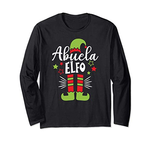 Abuela elfo Pijama de Navidad, Familia Xmas Elf Pajama Manga Larga