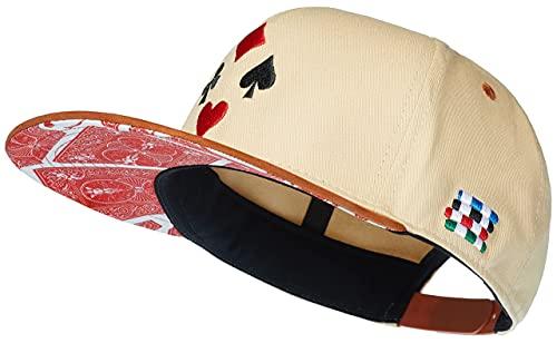 Cadency® Snapback Cap Poker, Beige, Unisex, Größenverstellbar