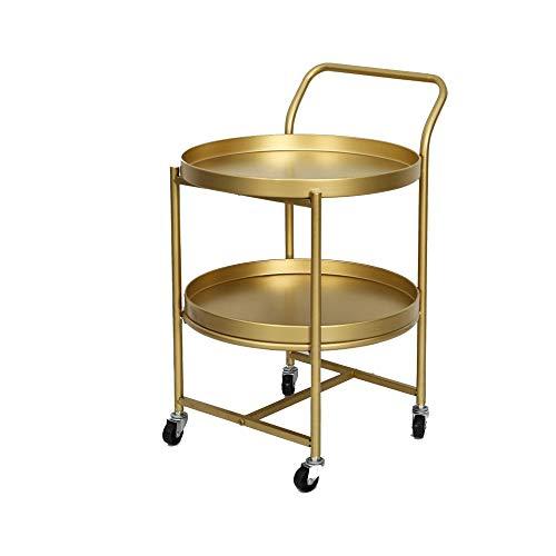 WALNUTA Tavolino da tè in lron da Salotto Tavolino Doppio da scrivania Tavolino da caffè Mobile Tavolino Estraibile a Doppio Strato con carrucola