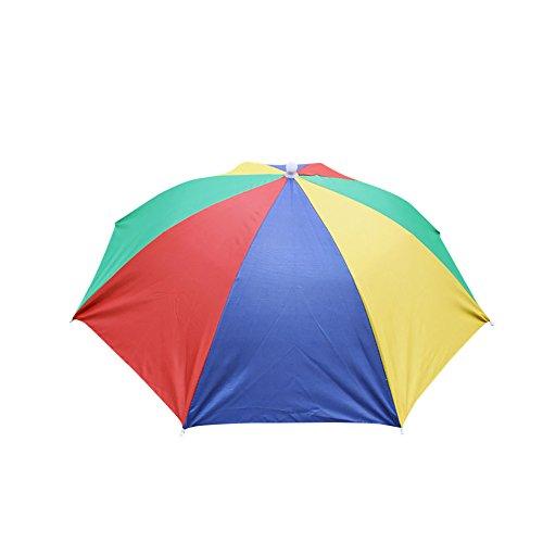 HINK-Home Sombrero de sombrilla, plegable, novedad, sombrero de sol, golf, pesca, camping, disfraz, multicolor, grandes ventas, Mujer, MR, L