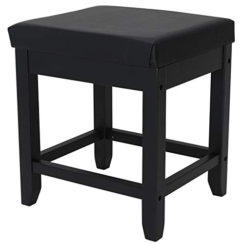 Buy IWELL Vanity Stool with Solid Wood Legs, Makeup Bench Dressing Stool, Padded Cushioned Chair, Ca...