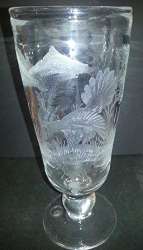 Pokal antiker Stil Jagd Pokal Auerhahn geschliffen Sammlerglas Vase mit Gravur großer Trinkbecher Höhe ca. 22 cm