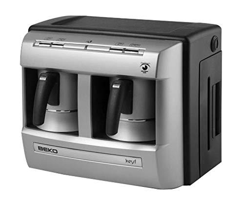 Beko BKK 2113 Mokka-Kaffeemaschine, 1 Liter, Silber/Schwarz